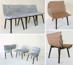 Concretefurniture furniture concrete design decor home style office kitchen homedecor homedesgin homeaccessories homestyle… – ArtofitBroken Bench Chairs: Unique Furniture or Clever Art? The Cave is a combination bookcase and lounge chair design t Concrete Interiors, Concrete Furniture, Unique Furniture, Diy Furniture, Furniture Design, Handmade Home Decor, Diy Home Decor, Room Decor, Concrete Crafts