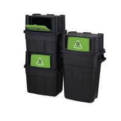 Stackable bins for recycling since we have to seperate into 4 different categories! Rubbermaid 20.5 Gal. Stackable Recycling Bin-1803652 - The Home Depot