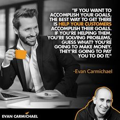 52 Likes, 2 Comments - Evan Carmichael Welcome To The Family, Business Quotes, Motivation Quotes, Problem Solving, Entrepreneur, How To Make Money, Believe, Success, Goals