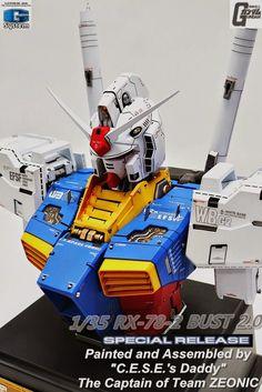 GUNDAM GUY: G-System 1/35 RX-78-2 Gundam Ver. 2.0 Bust - Painted Build