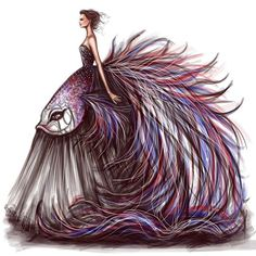 """Ready for SS 2016 Couture week This one is inspired by the Siamese Fighting fish, see how i made it on my Snapchat """" shamekhbluwi """""""