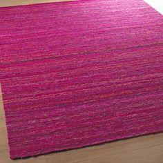 Recycled Sari Silk Flatweave Rug