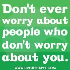 Don't ever worry....