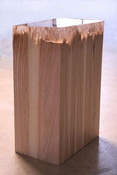 """Smashed wood, repaired with resin, from the """"Broken Board"""" series by Jack Craig.:"""