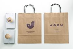 stamps. paper bags. great logo.