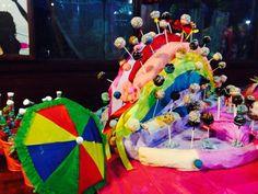 Pop cake rainbow party theme