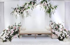 Image may contain: plant, table and indoor - wedding - Wedding Backdrop Design, Wedding Stage Design, Rustic Wedding Backdrops, Wedding Reception Table Decorations, Wedding Reception Backdrop, Backdrop Decorations, Table Wedding, Wedding Centerpieces, Plant Table