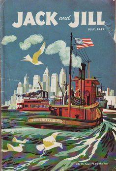 JACK AND JILL - July 1947 Cover by Joe Krush