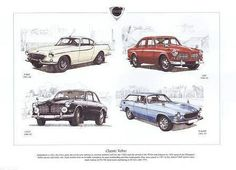 A poster for Volvo classics.