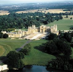 Blenheim Palace is a monumental country house situated in Woodstock, Oxfordshire, England, residence of the dukes of Marlborough. It is the only non-royal non-episcopal country house in England to hold the title of palace.  -  where Winston Churchill was born.