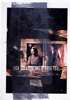 poster for Lisa Gerrard, by Vaughan Oliver