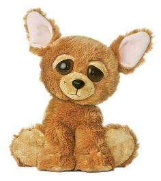 """10"""" Aurora Plush Chihuahua Puppy Dog Wag  Dreamy Eyes Flopsie Stuffed Animal Toy #Aurora"""