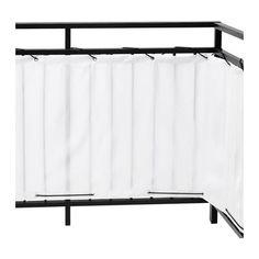 DYNING Separé per balcone, bianco bianco 250x80 cm