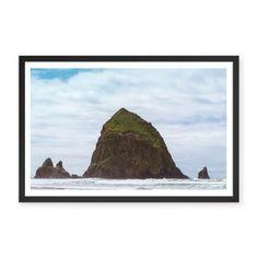 Cannon Beach Haystack Rock - 48x33 / Black