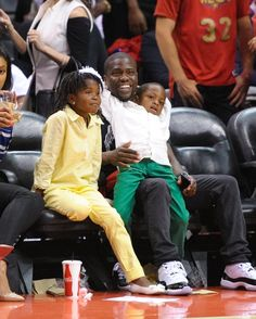 Pin for Later: The Cutest Pictures of Kevin Hart and His Mini-Me Kids
