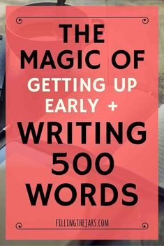 Click through to read about rediscovering the magic of writing 500 words a day -- and how to find time to do it. A daily writing habit is the perfect complement to mindfulness, intentional living, and self care. Plus, grab some prompts to get you started! Writer Tips, Book Writing Tips, Writing Process, Writing Resources, Writing Help, Writing Skills, Blog Writing, Writer Workshop, Writing Quotes