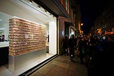 azuma makoto infills paris colette shop with 10,000 petal-filled jars