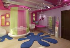 I would've loved a bedroom like this when I was younger!  Who am I kidding..I'd still love it as an adult!