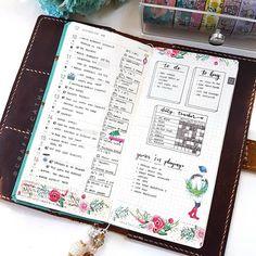 Last week's spread on my Hobonichi Weeks. Planner Tips, Planner Layout, Goals Planner, Happy Planner, Planner Supplies, Planner Organization, Organized Planner, Organised Life, Organizing