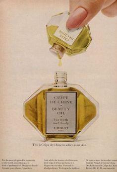 1966-E-Milot-039-Crepe-de-Chine-039-Perfume-VIntage-Bottle-PRINT-AD