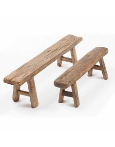 Antique Chinese small wooden benches - Authentic old wooden stools en benches. Reclaimed Wood Benches, Rustic Bench, Wood Storage Bench, Diy Bench, Diy Wooden Projects, Wooden Diy, Shelf Furniture, Wood Furniture, How To Antique Wood