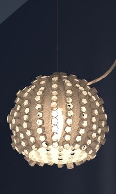 3d printed lampshade by studioluminaire.com