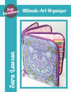 Sew Sweetness Ultimate Art Organizer sewing pattern **Just bought the pattern. I'm looking forward to working with this. Sewing Hacks, Sewing Crafts, Sewing Projects, Sewing Tips, Bag Patterns To Sew, Pdf Sewing Patterns, Wallet Sewing Pattern, Crochet Supplies, Art Case