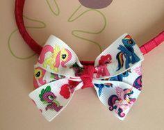 Tiara Pink Laço My Little Pony Colorido