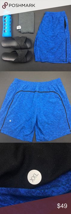 Lululemon Men's Pace Breaker Shorts in BAD ASS Your balls never know what hit em. These are the ultra comfort shorts that you can use for pretty much anything. Running. Hiking. Racket ball. Bear wrestling. You name it. Added bonus: extra pockets for all the panties you'll be catching wearing these shorts #amirite?! Used in Excellent Condition. No Trades. No PayPal. Smoke & Pet Free Home. Don't be a douche and send me a lowball offer. lululemon athletica Shorts Athletic