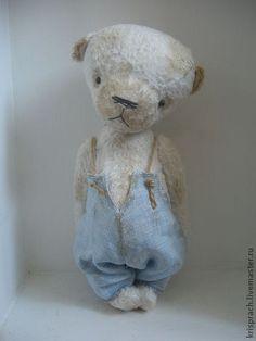 Eric - мишка,авторские мишки Тедди,eric,вискоза,опилки древесные,металлический гранулят