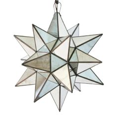 Worlds Away Antique Mirrored Star Chandelier Extra Large