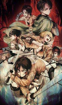 Attack on Titan - my best friends favourite anime I can't stand it though I don't really know why