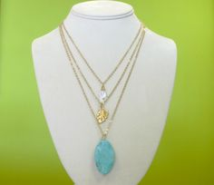 Layer necklace turquoise. Rebeca Arias Accesorios