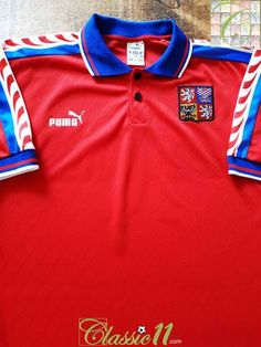 Official Puma Czech Republic home football shirt from the 1996/97 international season. Complete with #10 on the back of the shirt (Radek Drulák's Euro 1996 squad number).