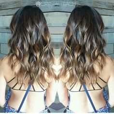 Sunkissed chocolate color melt. Color by @crystalteach #hair #hairenvy…