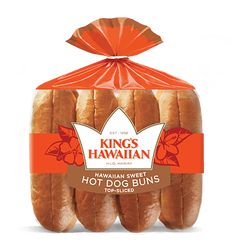 The very first Hawaiian sweet bread. We ensure our bread and rolls are of the upmost quality. We carry dinner rolls, sub rolls, sub rolls, hamburger buns and hot dog buns Wrapped Hot Dogs, Bacon Wrapped Hotdogs, Hawaiian Sweet Breads, Hawaiian Recipes, Portuguese Sausage, Jalapeno Sauce, Dog Wrap, Beans And Sausage, Kings Hawaiian