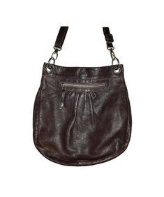 Vintage ROOTS Canada Genuine handmade Mahogany Brown pleated pebbled  Italian Leather convertible strap rugged Crossbody or shoulder bag 7c7cf9ca91