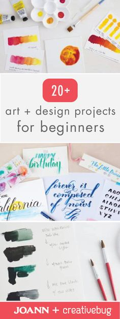 Get your creative juices flowing and make awesome things like carved eraser stamps, simple drawings, and more! Simply check out these 20+ Art and Design Projects for Beginners from Jo-Ann and Creativebug to get started.