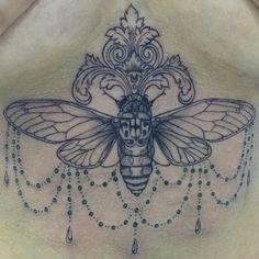 Instagram media by charrrrlannnne - #cicada #tattoo
