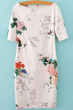 Floral Print Short Sleeve Dress: Print Dresses | ZAFUL