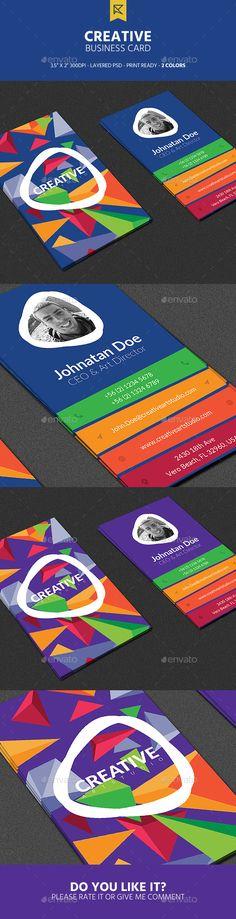 Creative Business Card - Creative Business Cards Download here : https://graphicriver.net/item/creative-business-card/18943551?s_rank=104&ref=Al-fatih