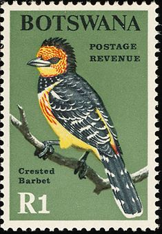 Birds on stamps: Botswana Botsuana