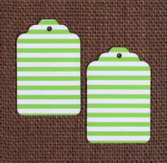 Lime Green Gift Tags: Stripe