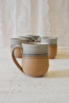 Ceramic mug one of a kind mug pottery mug handmade ceramic coffee mug rustic mug coffee lovers gift tea cup mugs set - Coffee Set - Ideas of Coffee Set - Stoneware Mugs, Ceramic Cups, Ceramic Art, Pottery Mugs, Ceramic Pottery, Slab Pottery, Pottery Wheel, Handmade Pottery, Handmade Ceramic