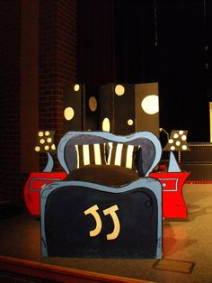 Seussical Jr. jojo's bed and night stands
