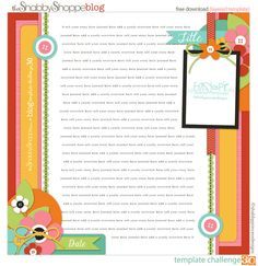 another awesome FREE template from The Shabby Shoppe!  I love this because there is so much journaling space!  Great template!