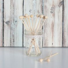 Back in Stock and ON SALE !Wood Rock Candy Sticks - Set of 12 $1.75