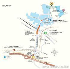 Lokasi The Orchard Summarecon Bekasi