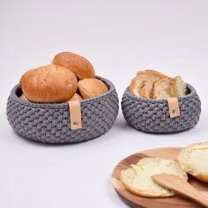Ravelry: Ribbon Bread Basket pattern by Hobbii Design Crochet Home, Knit Or Crochet, Chrochet, Crochet Stitches, Crochet Baby, Free Crochet, Crochet Patterns, Knitting Patterns, Sewing Patterns