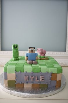 Mine Craft cake. (Inspiration drawn from picture provided by client)